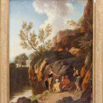 Wieder daheim in Dessau: Christian Wilhelm Ernst Dietrich, genannt Dietricy (1712-1774), Baumbestandene Felsenlandschaft mit Alexander dem Großen und Diogenes