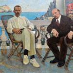 """""""Lenin und Gorki auf Capri"""", Alexandr Burak, 1975 https://spb.rakovgallery.ru/"""