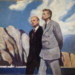 """Lenin und Gorki auf Capri"", 1970er-Jahre, Öl auf Leinwand. Quelle: Konstantin Filatov, Online-Art-Galerie ""Okna sozrealizma"", oknasocrealisma.com"