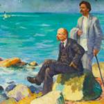 """""""Lenin und Gorki auf Capri"""", Viktor Pirogov, 1977. Quelle: https://socrealizm.com.ua/"""