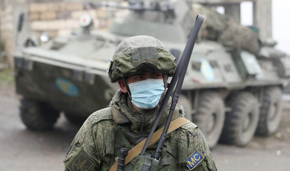Soldat in Berg Karabach