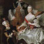 Peter und Katharina, später Zar und Zarin, mit ihrem Sohn Paul. (Gemälde von R. M. Lisiewska, 1756.) Paul heiratete 1776 in zweiter Ehe Sophie Dorothee von Württemberg.