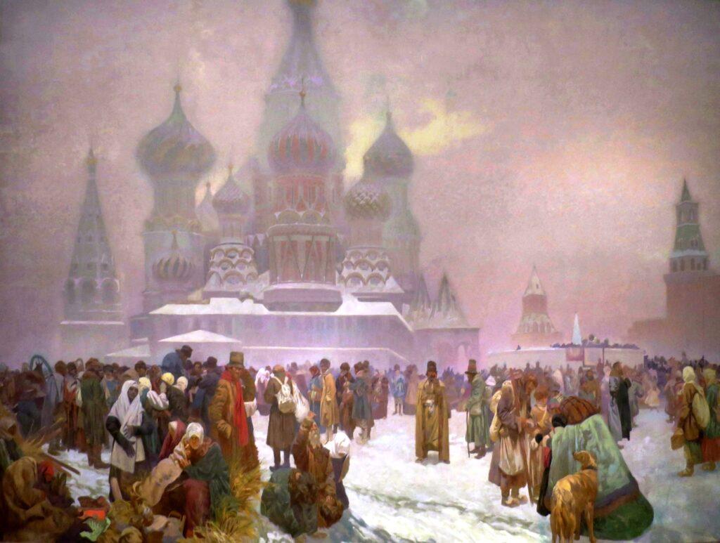 Abschaffung der Leibeigenachaft Russland Gemälde von Mucha