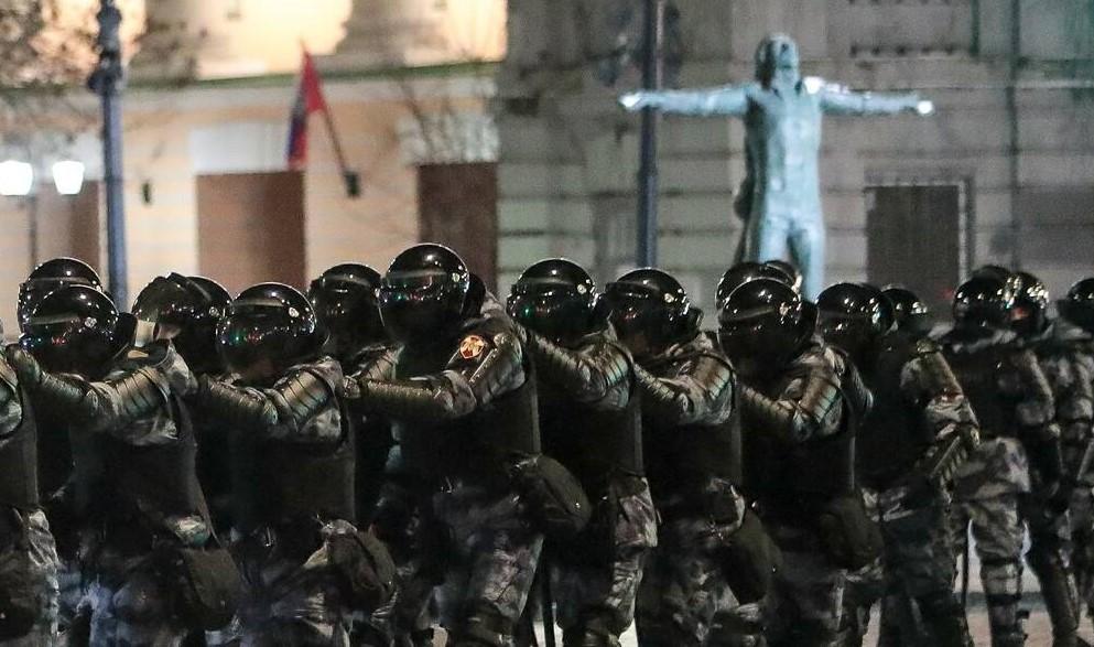 Demonstration Poliztei Moskau 2. Februar 2021