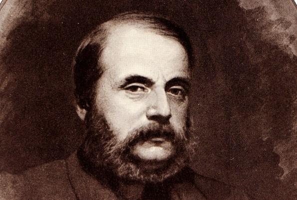 Iwan Gontscharow portrait von Iwan Kramskoi