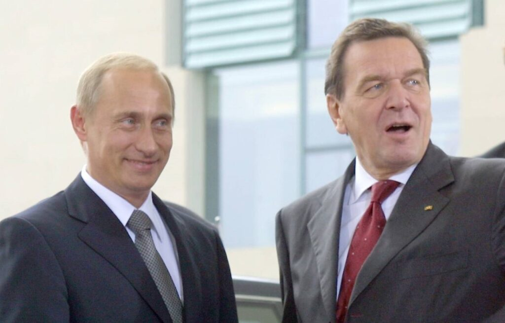 Putin Schröder September 2001 in Berlin