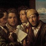 "Orest Kiprenski: ""Zeitungsleser in Neapel"", 1831 Öl auf Leinwand, 64,5 × 78,3 cm"