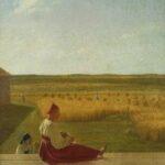 """Alexej Wenezianow: """"Bei der Ernte. Sommer"""", Mitte 1820er Jahre Öl auf Leinwand, 60,6 × 49 cm"""