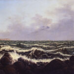 "Carl Gustav Carus: ""Brandung bei Rügen"", 1819 Öl auf Leinwand, 645 x 935 mm"