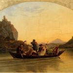 """Adrian Ludwig Richter: """"Die Überfahrt am Schreckenstein"""", 1837 Öl auf Leinwand, 116,5 x 156,5 cm"""