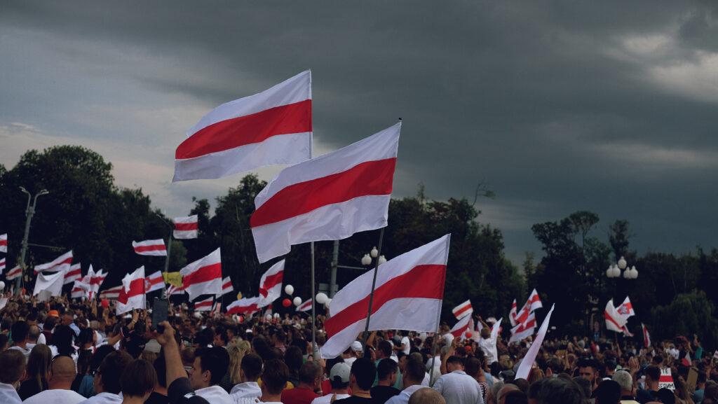 Demonstration in Grodno, Belarus, im August 2020