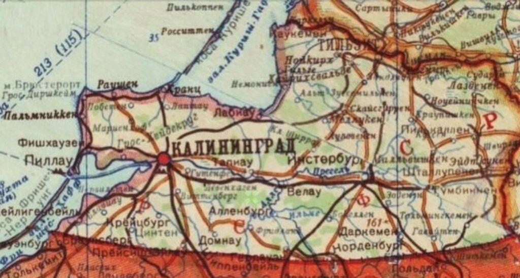 Kaliningrad Karte 1946