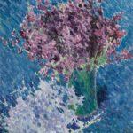 Michail Larionow: Flieder, 1904/05, Öl auf Leinwand, 49 x 47 cm