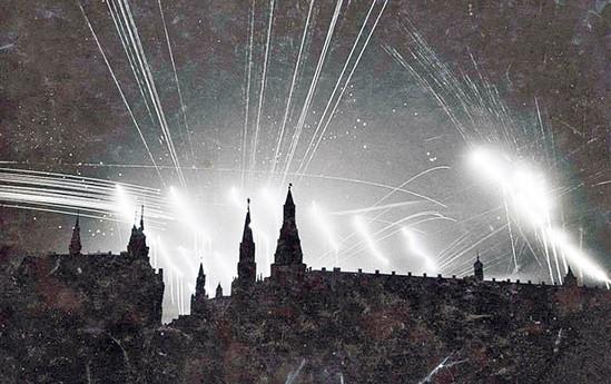 Moskau Nacht Luftangriffe Juli 1941 Wikimedia