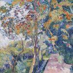 """Natalija Gontscharowa, Eberesche. """"Panino"""", bei Wjasma, 1907/08, Öl auf Leinwand, 99,4 x 69 cm"""