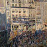 Nicolas Tarkhoff: Karnevalstag in Paris, 1900, Öl auf Leinwand, 100 x 65 cm