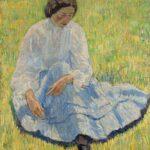 Robert Falk: Lisa in der Sonne, 1907, Öl auf Leinwand, 94,5 x 81,7 cm