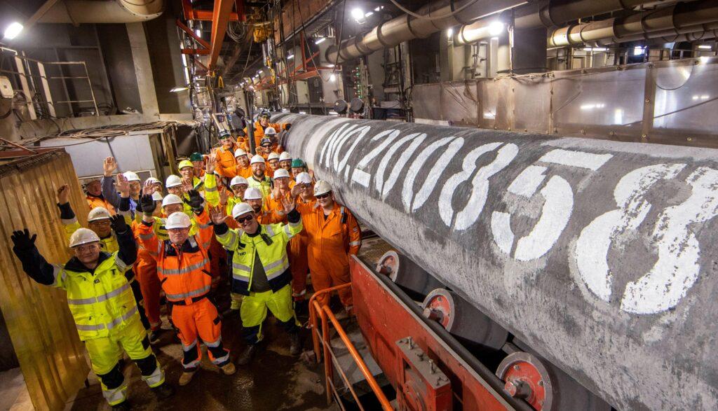 Nord Stream 2 Gasleitung fertig