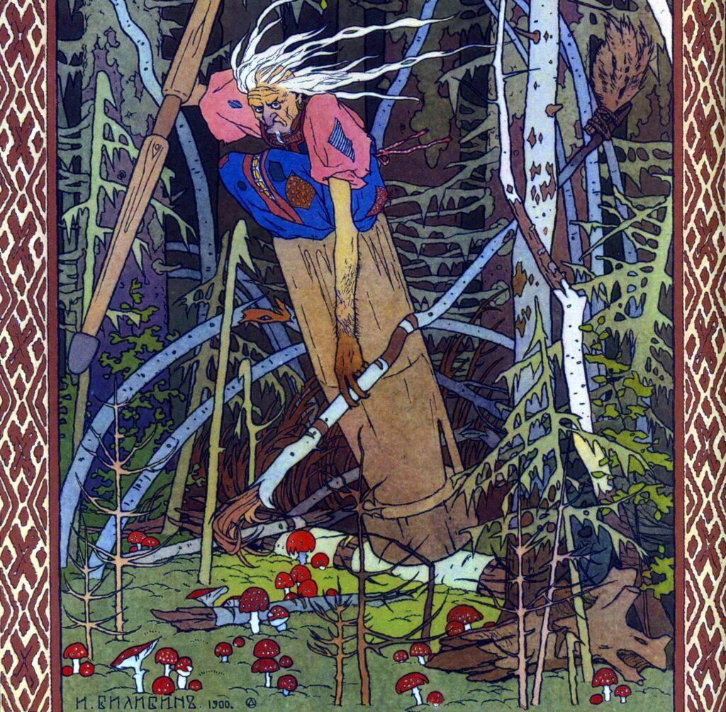 Baba Jaga. Gesammelt von Afanasjew, dem russischen Grimm